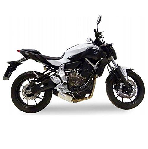 Auspuff LeoVince Underbody Komplettanlage 2-1 Edelstahl MT-07 RM04 ABS Moto Cage