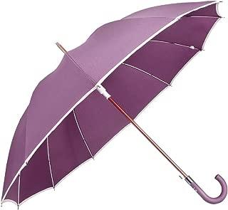 J Stick Umbrella Auto Open Windproof Rainproof Straight Handle Large 12 Rib Golf Umbrella Men Women Multiple Colors