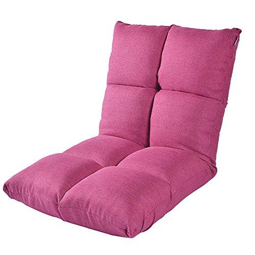 ZHANGRONG- Chaise pliable de plancher avec le sofa de salon paresseux de coussin épais de dossier réglable -Tabouret de canapé (Couleur : Rose rouge)