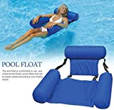 Sagiter Water Chair Inflatable Swimming Pool Float Lounge, Indoor Outdoor Recliner, Lake Swimming Floating Chair Pool Seats Lounger Portable Lazy Water Bed Lounge Chairs,Blue