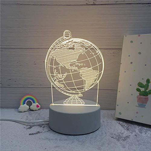 3D Led Lampe Nachtlichter Neuheit Illusion Nachtlampe 3D Illusion Tischlampe Für Zu Hause Dekoratives Licht 13,5 * 21 Cm Globus