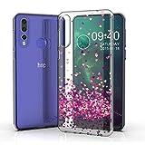 JIENI Hülle für HTC Desire 19 Plus,Weich Silikon Transparent Flexibel Rotes Herz Schutzhülle Stoßkasten Handyhülle Hülle Bumper Handytasche TPU Schale Cover für HTC Desire 19 Plus (6.2