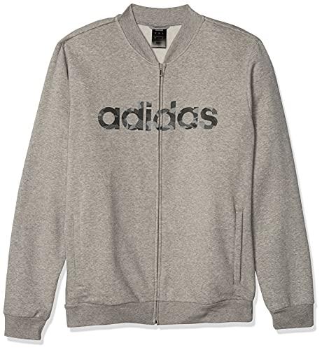 adidas E Camo Lin Bomb Chaqueta Bomber, Hombre, Medium Grey Heather/mgh Solid Grey/Black, Extra-Small