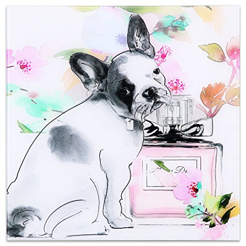 Empire Art Direct Little Frenchie Frameless Free Floating Tempered Glass Dog Wall Art Ready to Hang, 20' x 20' x 0.2'