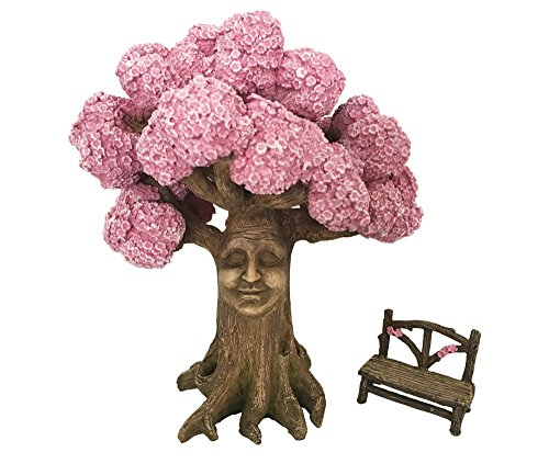 GlitZGlam l'arbre Magique d'Ethan, avec Banc enchanté Assorti (22,9 cm), Un Accessoire pour Jardin enchanté