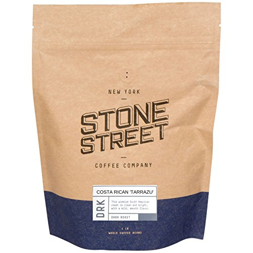 DARK COSTA RICAN 'TARRAZU' Whole Bean Coffee   1 LB Bag   Premier Volcanic Soil/High Altitude Growing Region   Dark French Roast