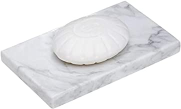 Frescorr - White Marble Soap Dish - Polished and Shiny Marble Dish Holder Beautifully Crafted Bathroom Accessory