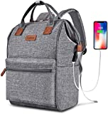 BRINCH Laptop Backpack 15.6 Inch Wide Open Computer Backpack Laptop Bag College...
