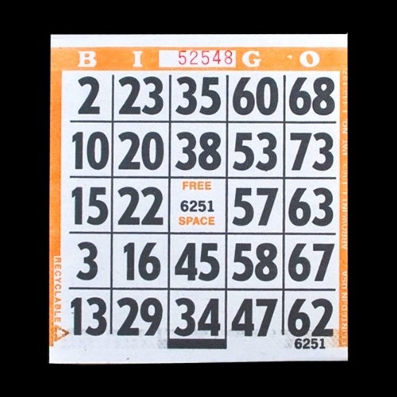 promociones 1grandes de impresión fácil leer Bingo tarjetas de de de papel naranja 500tarjetas  tienda de venta