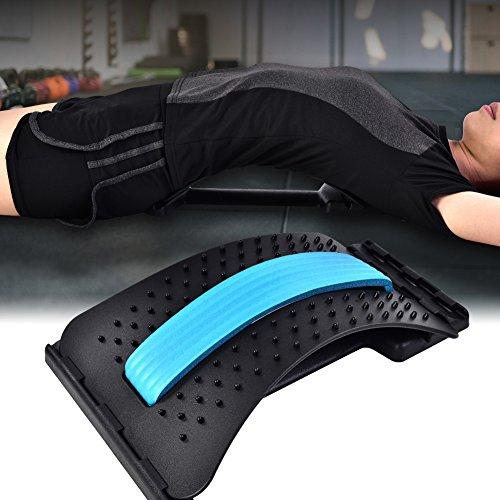 Zerone Back Support, Rückenstrecker Rückendehner Rückentrainer gegen Verspannungen (Blau + Schwarz)