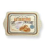 Natives 410060café-Croissant Bandeja Metal 25x 16x 2cm, Multicolor