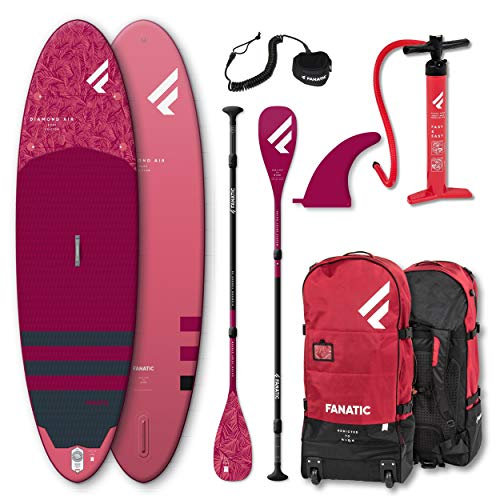 Fanatic Diamond AIR 10.4 Stand up Paddle Board SUP Surf-Board Set Carbon 35 Paddel