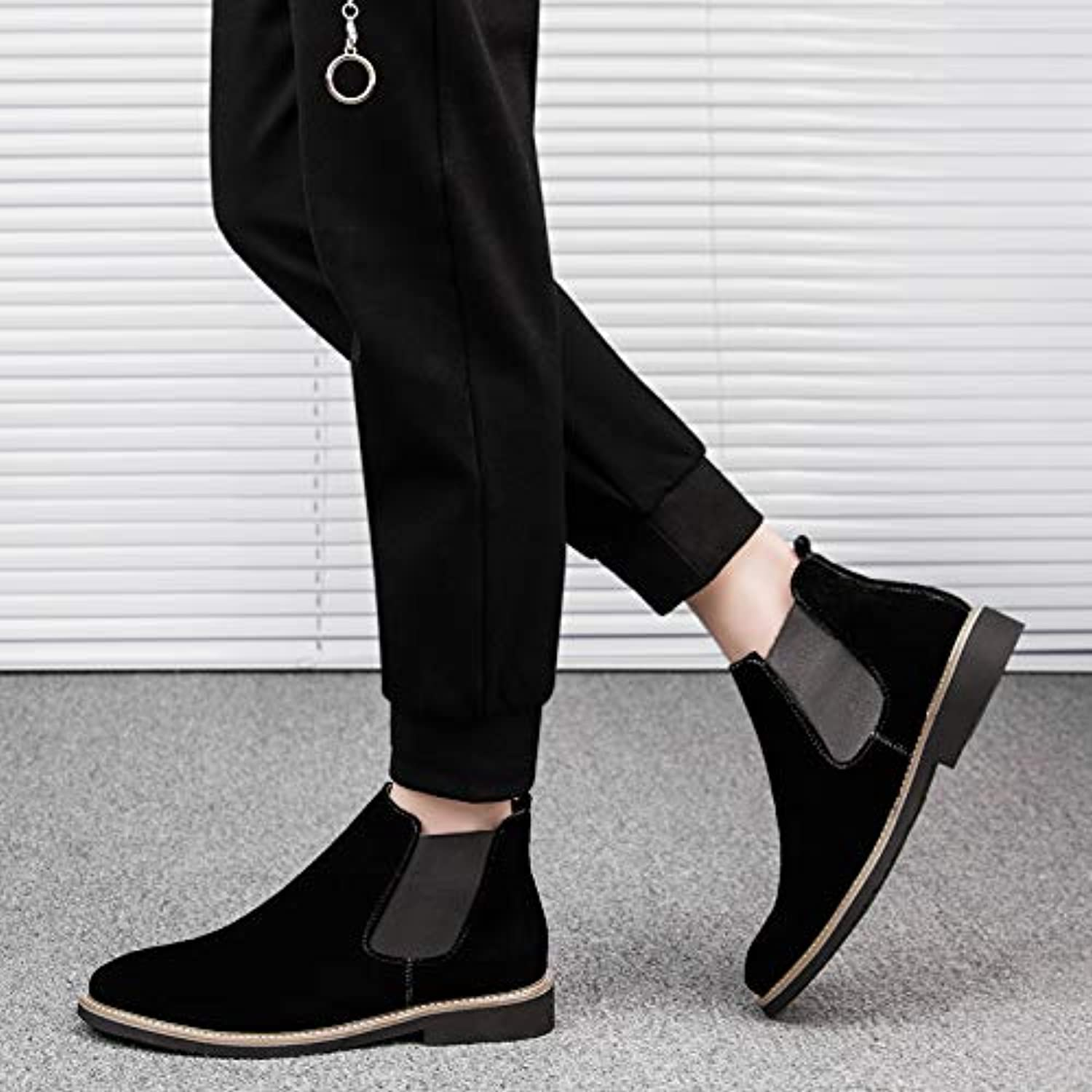 LOVDRAM Boots Men's Martin Boots Men'S Boots Chelsea Boots Men'S Autumn And Winter Sleeve Boots Casual High Men'S shoes