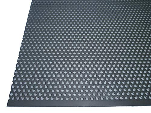 Acero inoxidable perforado 1,5 mm de grosor rundlochung 3 mm de diámetro versetzt RV 3 – 5