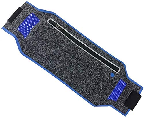 KLMNV;KLBVB Fitnessgeräte Laufen Hüfttasche Wasserdicht Gurt Fanny Beutel passend Samsung Anmerkung 8 Google Pixel iPhone X 8 Plus for Fitness Rennen Gehen Wandern (Sky Blue) (Color : Dark Blue)