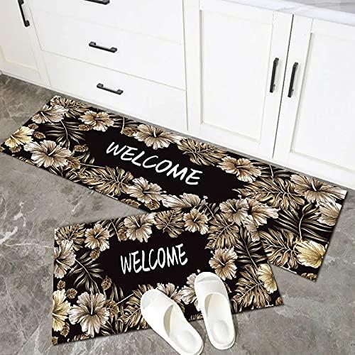 WESG Alfombrillas de Cocina Antideslizantes Modernas, alfombras de Puerta de Entrada de balcón de Sala de Estar, Alfombrillas absorbentes de baño n. ° 3 40X120cm