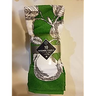 Chef's Pantry - 10 Pack of Kitchen Towels (Pears Print)