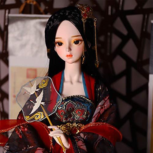 Dytxe-doll 62cm BJD/SD Puppe 1/3 Mädchen Spielzeug Senden Mädchen Geburtstagsgeschenk Kind Mode Exquisite Puppe Dress Up Hochzeitskleid Prinzessin Puppe