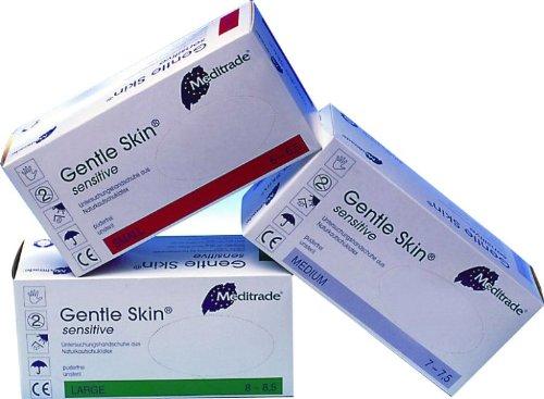 Meditrade Gentle Skin Sensitive - Latex-Untersuchungshandschuhe - puderfrei - 1000 Einmalhandschuhe - Größe S