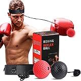 SPECOOL Reflejo de Boxeo Ball, Fight Ball con Diadema Fight MMA Training Reacciones de Velocidad de Velocidad Mejorar Deporte Ejercicio
