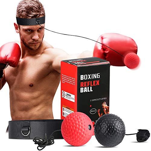 SPECOOL Reflejo de Boxeo Ball, Fight Ball con Diadema Fight MMA Training...