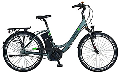 "Prophete E-Bike,26"", Geniesser e8.7, AEG EcoDrive C Mittelmotor,36V,250W,max.50 Nm,7-Gang Nabenschaltung , SAMSUNG SideClick Lithium-Ionen,36V, 10,4Ah (374Wh),Rücktrittbremse, Alu-Urban-Premium-Rahmen"