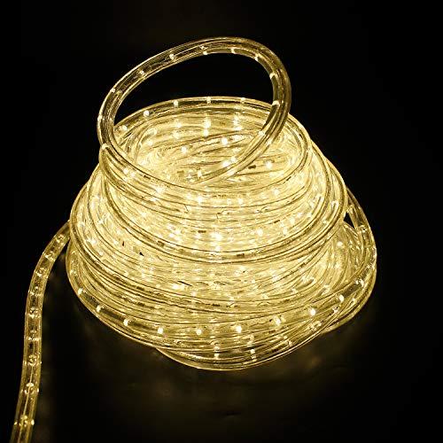 COCOMIA 8 Meter LED Lichterschlauch Außen, Wasserfest LED Schlauch für Auße, Dekoration und Beleuchtung LED Lichterschlauch für Halloween, Garten, Weihnachten, Hochzeit, Party, Warmweiß