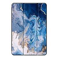Sepikey iPad mini 5 2019/iPad mini 保護ケース,全面保護型 耐摩耗性 三つ折 指紋防止 レザー 三段角度調節 スマートカバー iPad mini 5 2019/iPad mini Case-マーブル9