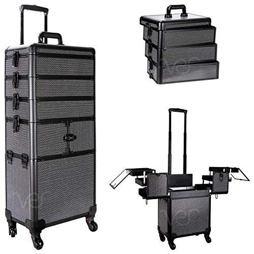 El maletín de maquillaje con ruedas