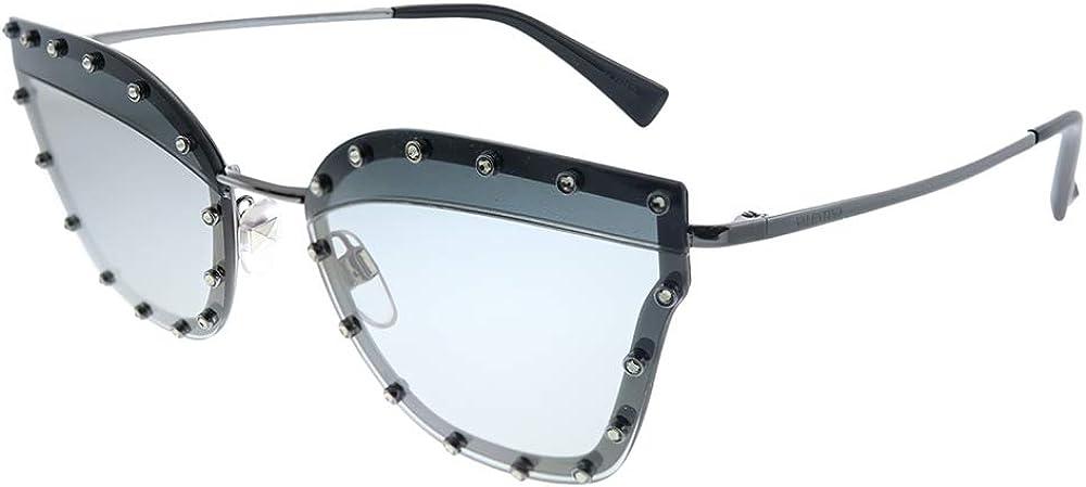 Valentino, occhiali da sole per donna, montatura in metallo, lenti azzurre VA2028B