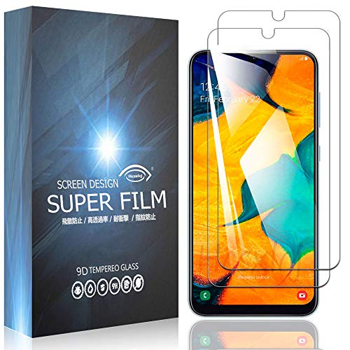 【2枚セット】For Galaxy A30 SCV43 フィルム For Galaxy A30 ガラスフィルム 強化ガラスフィルム 液晶保護フィルム【硬度9H 日本旭硝子素材AGC 超薄0.26mm 2.5Dラウンドエッジ加工 高透過率 気泡ゼロ 指紋防止 飛散防止】【Hcsxlcj】(A30)