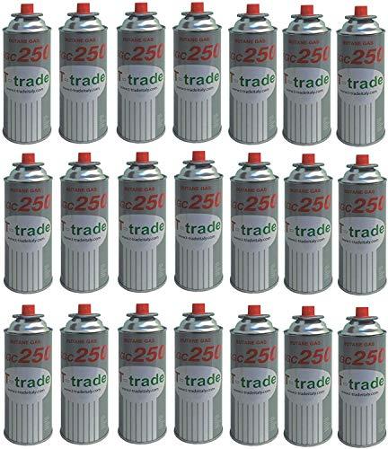 ALTIGASI 21 Stück Gaskartusche GPL 250 GR Art.KCG250 Ideal Lötkolben oder Backofen, geeignet für CAMPINGAZ cp250 Brunner