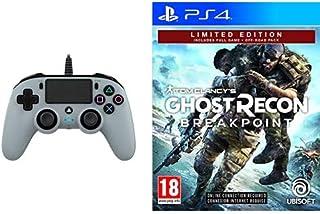 Nacon Compact Controller, Grigio - Classics - PlayStation 4 + Ghost Recon Breakpoint - Limited [Esclusiva Amazon]