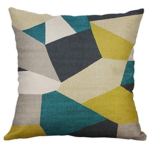 DOLDOA Haushalt Wohnen,Unregelmäßiges geometrisches Muster Kissenbezug Kissenbezug 50x50cm (B)