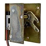 12V Mini cerrojo eléctrico, Cerradura de seguridad automática para gabinete, cajón, Bloqueo de seguridad encender para abrir(Derecho abierto)