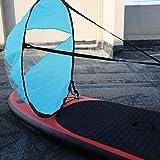 Nologo Voile de Vent, Voile de Kayak PVC Pliant sous Le Vent pagaie de Vent Planche Popup Kit de Voile de Kayak Accessoires de voilier