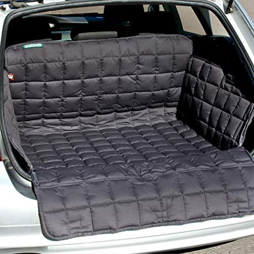 Doctor Bark Kofferraumschutz für Hunde, Kofferraumdecke All-Side Schutz Stoßstangenschutz Reißverschluss für PKWs und SUVs, L Grau