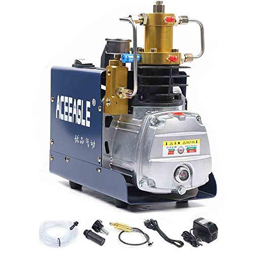 Compresor de aire de alta presión, 30 Mpa 1800 W, PCP, bomba de aire de alta presión, bomba de aire, inflador, 300 bar, 4500 PSI (apagado automático)