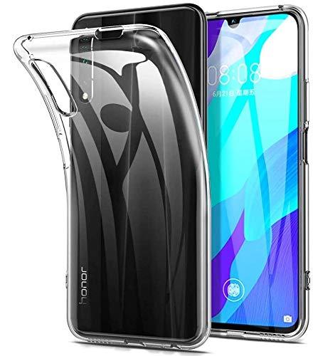 REY - Pack 3X Cover in Gel TPU Trasparente per Honor 9X - Honor 9X PRO - Huawei P Smart PRO 2019, Ultra Sottile 0,33 mm, Morbido Flessibile, Custodia Silicone