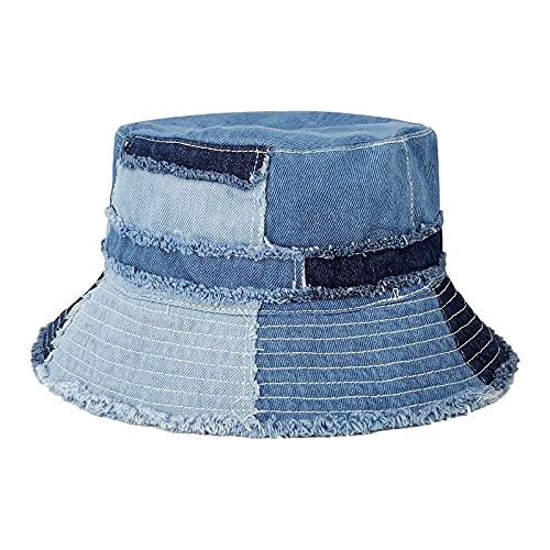 GuanGu Denim Bucket Hat for Women W…
