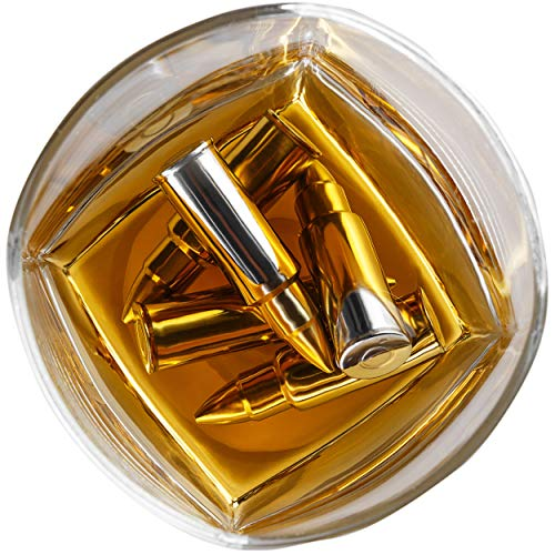 Product Image 7: Stainless Steel Bullet Shaped Whiskey Stones Set of 6 – Chilling Rocks – Ice Stones With Tongs And Freezer Pouch, Gift Idea for Whiskey Lovers