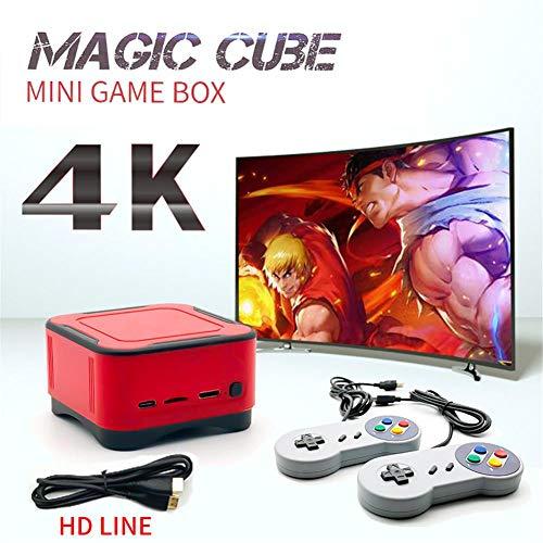 Spielekonsole, 4K HDMI HD Retro-Spielekonsole,Tragbare Cube-Spielekonsole Eingebauter Lautsprecher Mit 1500 Klassischen Spielen Für Doppelspieler, Wireless-TV-Game-Box-Controller Für Kinder Erwachsene