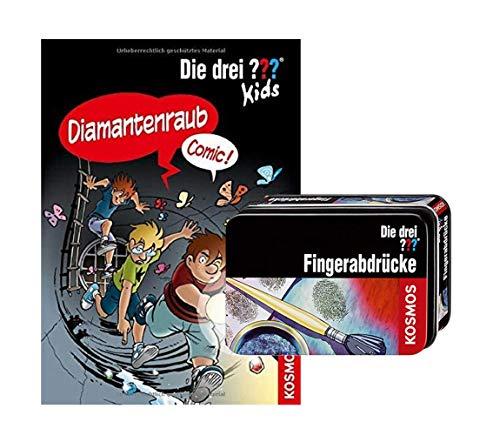 Die DREI ??? Kids: Diamantenraub: Comic (Gebundenes Buch) + 1 Forscherkästchen