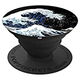 The Great Wave off Kanagawa Hokusai Japanese Art PopSockets Grip and Stand for Phones and Tablets