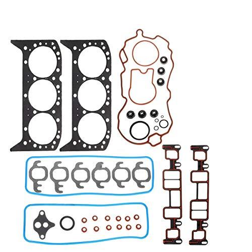 Vincos Head Gasket Set Valve Cover Gasket Kit HS9354 PT-6 Compatible with Engine V6 4.3L Silverado1500/Sierra1500 1999-2006 Express Savana1500 2500 Astro Blazer Safari 96-05