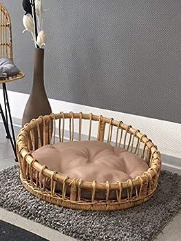 animal-design Lenny Canapé pour chien et chat en rotin