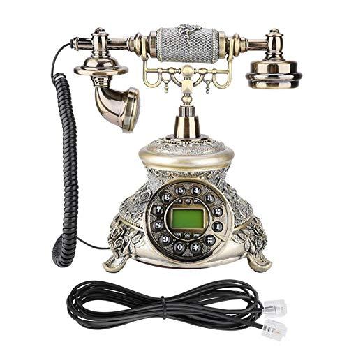 Gatuxe Teléfono de Escritorio EU Retro Style Landline MS-5700D Teléfono de Escritorio de Oficina en casa, teléfono Antiguo, Regalo Artesanal, para Sala de Estar en casa, Dormitorio o Secretaria