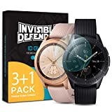 Ringke Invisible Defender Glass 4 Pack Compatible with Galaxy Watch 41mm / 42mm Tempered Glass Screen Protector, Ultimate Clear Shield, High Definition Quality, 9H Hardness Technology