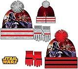 for-collectors-only Star Wars Invierno Juego Darth Vader con Gorro y Guantes para niños 3–9años Gorro de Juego