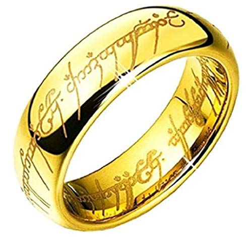 """6MM Bague Tungstene """"Seigneur des Anneaux """"LORD OF THE RINGS""""T62"""